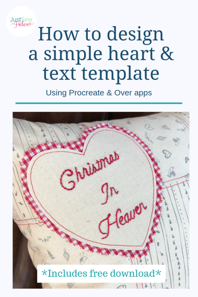 How to design a simple heart template free download