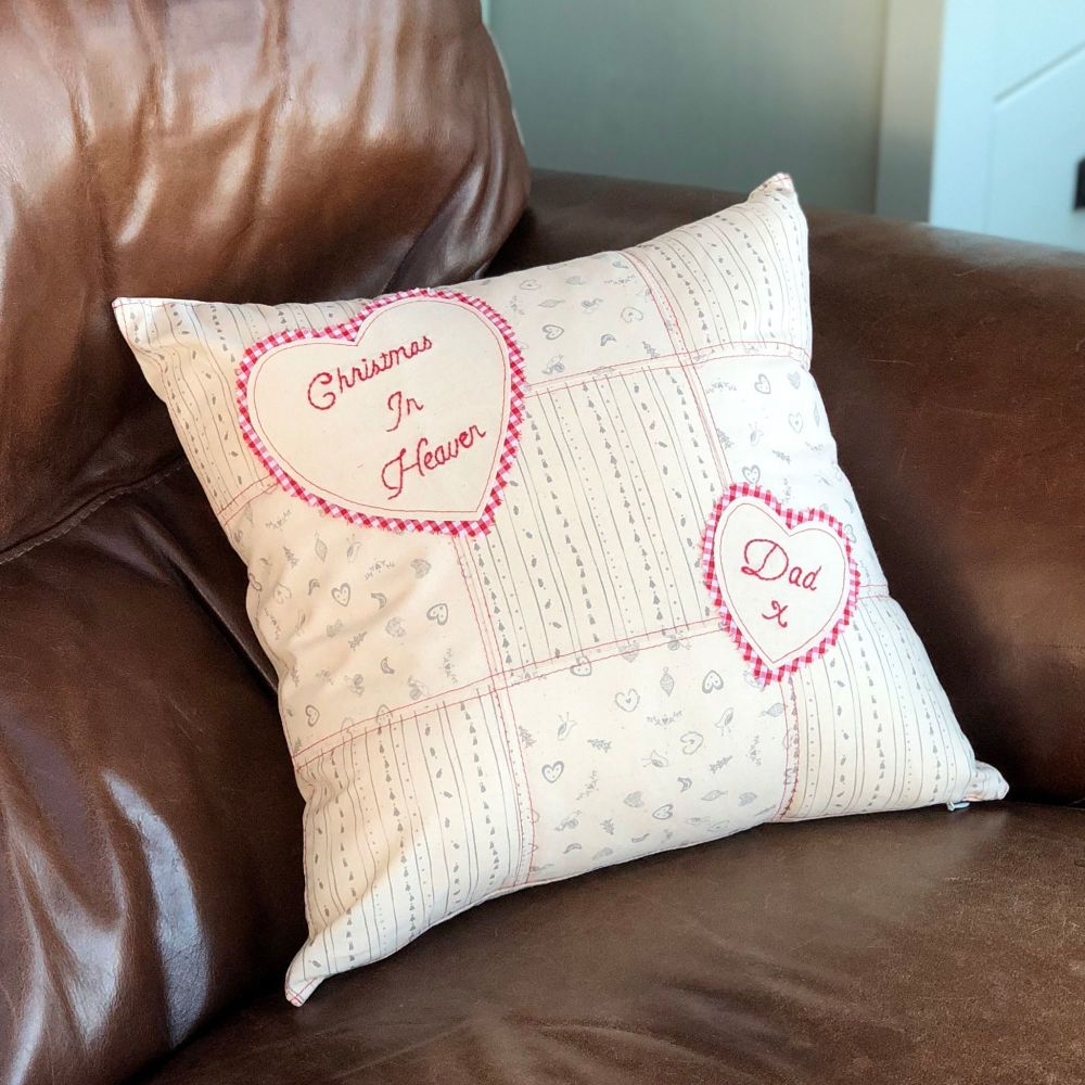 Christmas In Heaven Cushion, Remembrance pillow, in memory of Dad