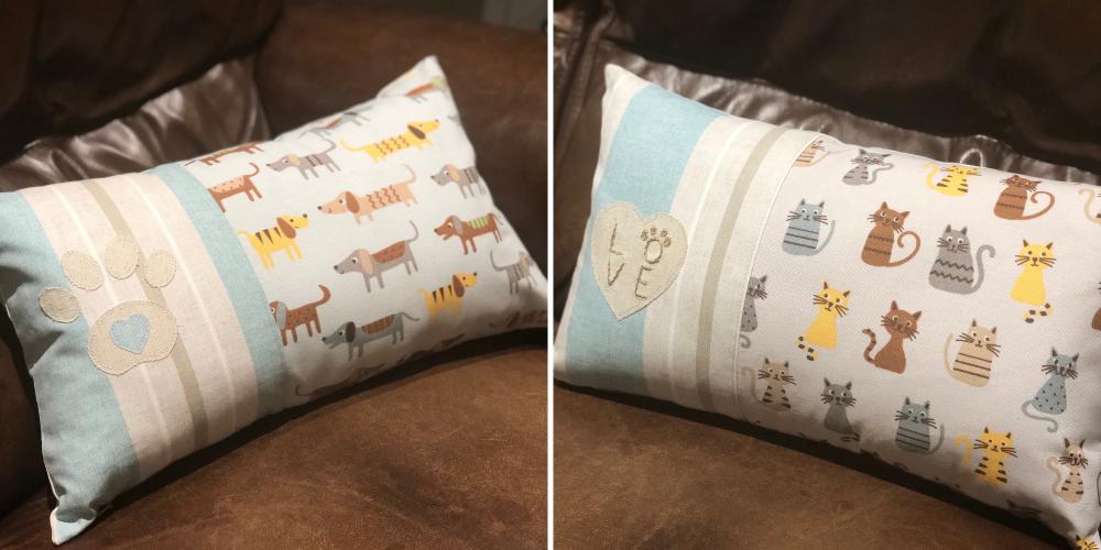 Paw print cushions - JustSewHelen.com
