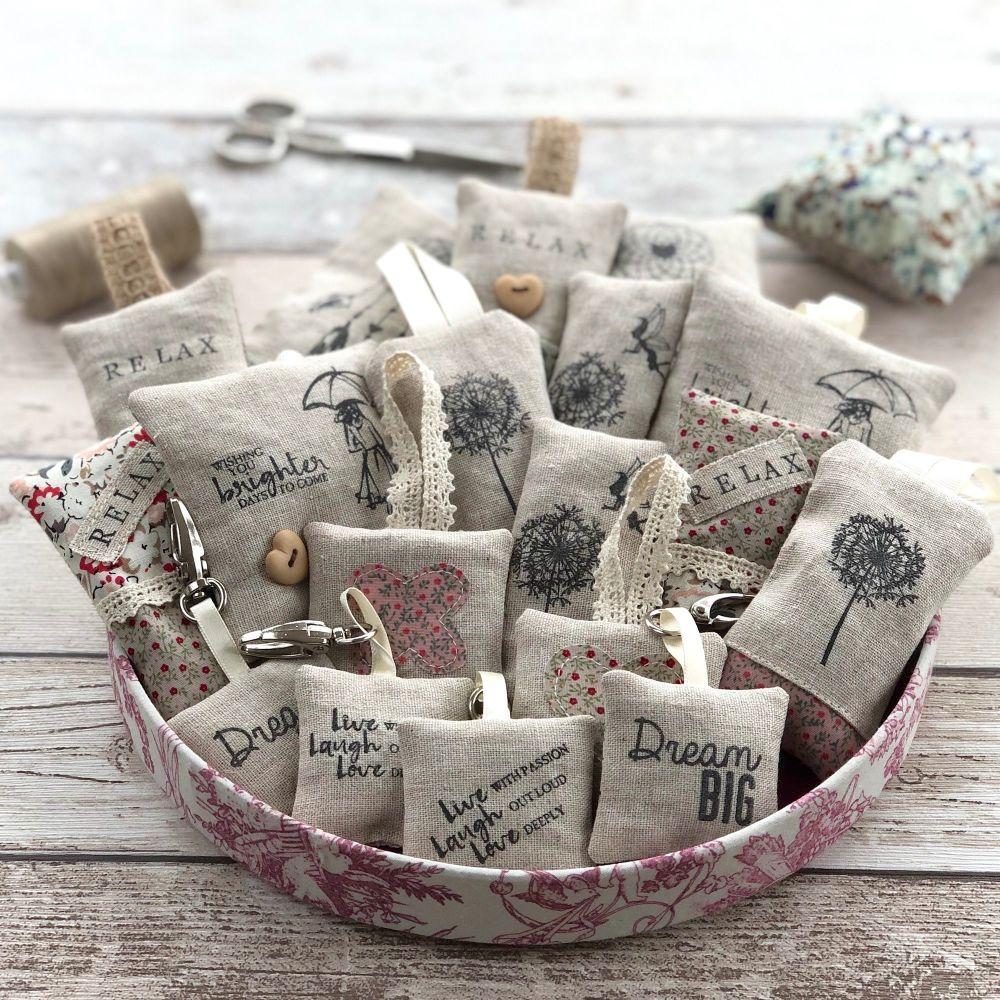 Lavender Bags, Linen Lavender Pouches by JustSewHelen