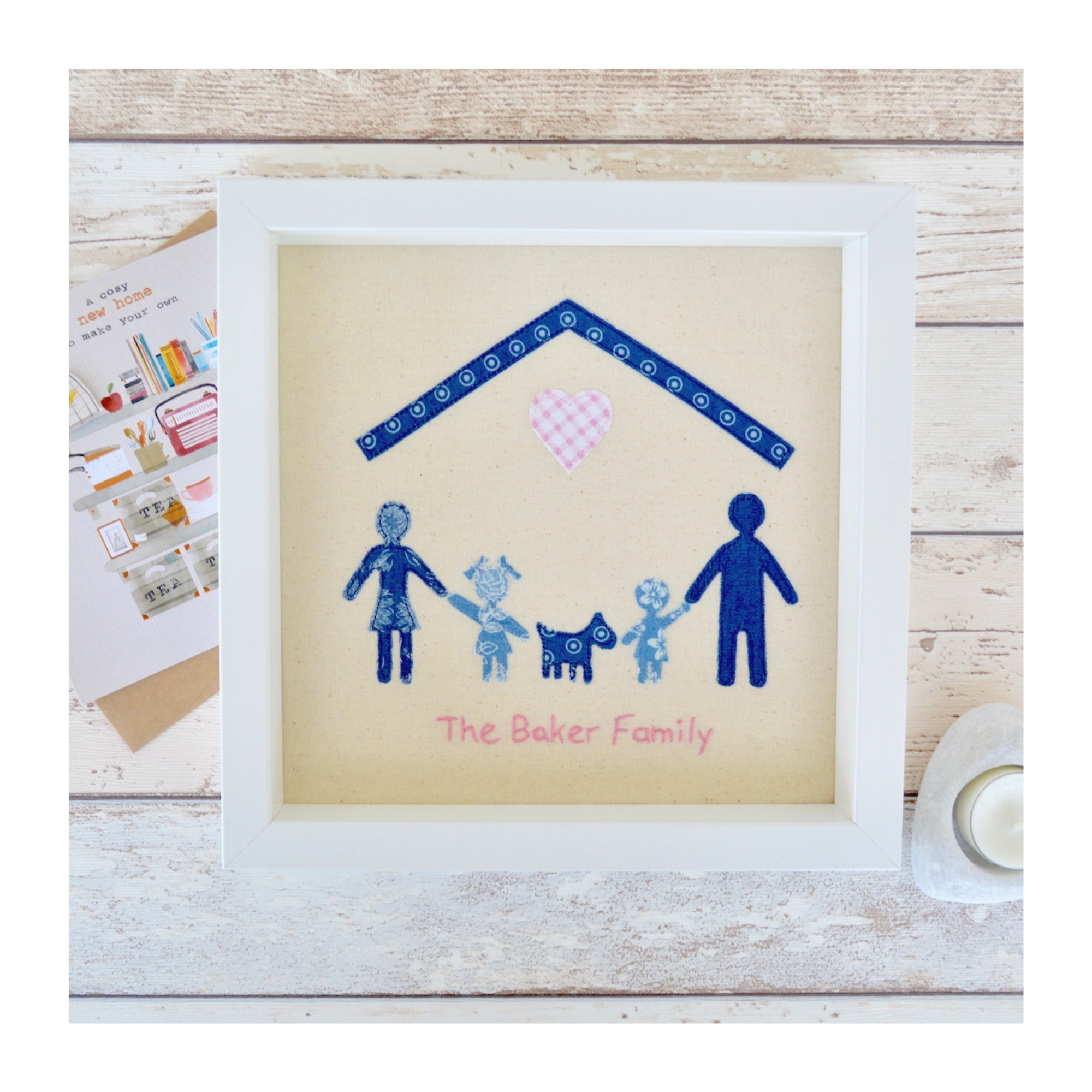 Your family members and pets shadow applique new home