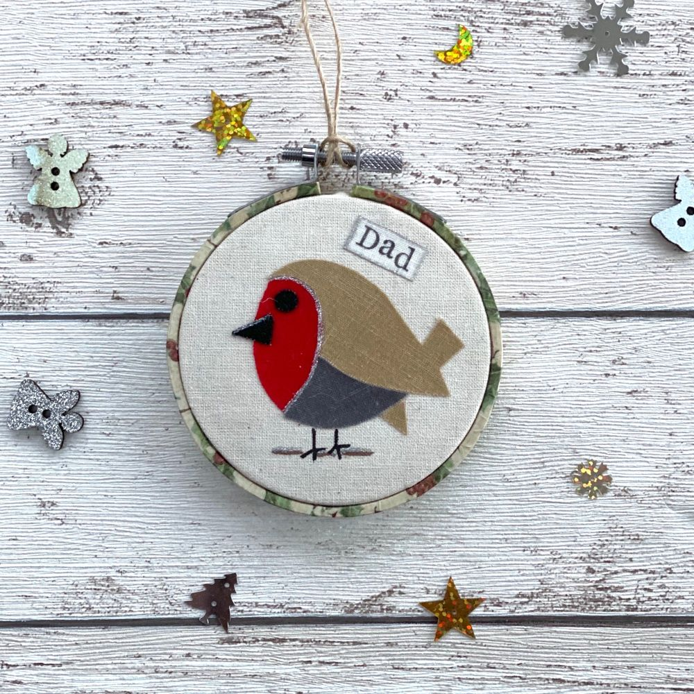 Christmas Robin Remembrance Ornament