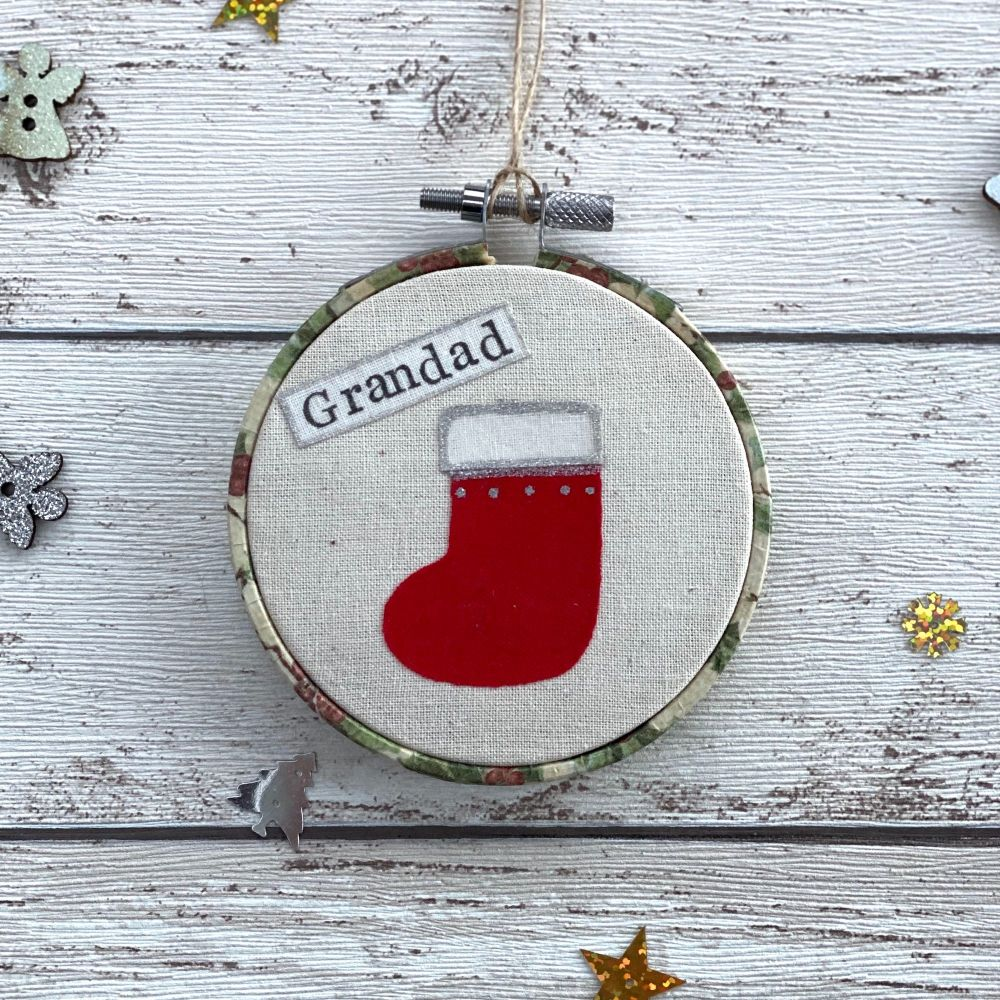 Christmas Stocking Remembrance Ornament