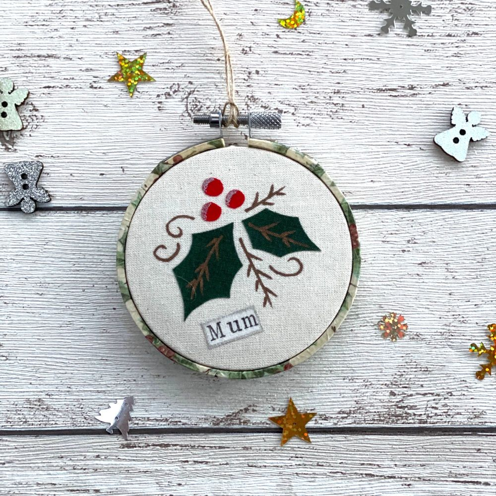 Holly Christmas Remembrance Ornament