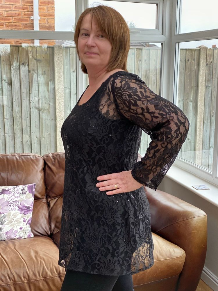 Long sleeved lace tunic