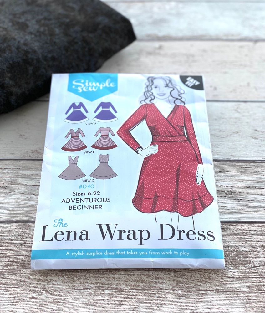Lena wrap dress pattern from Simple Sew