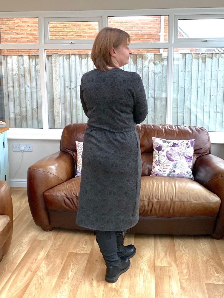 Wrap dress back