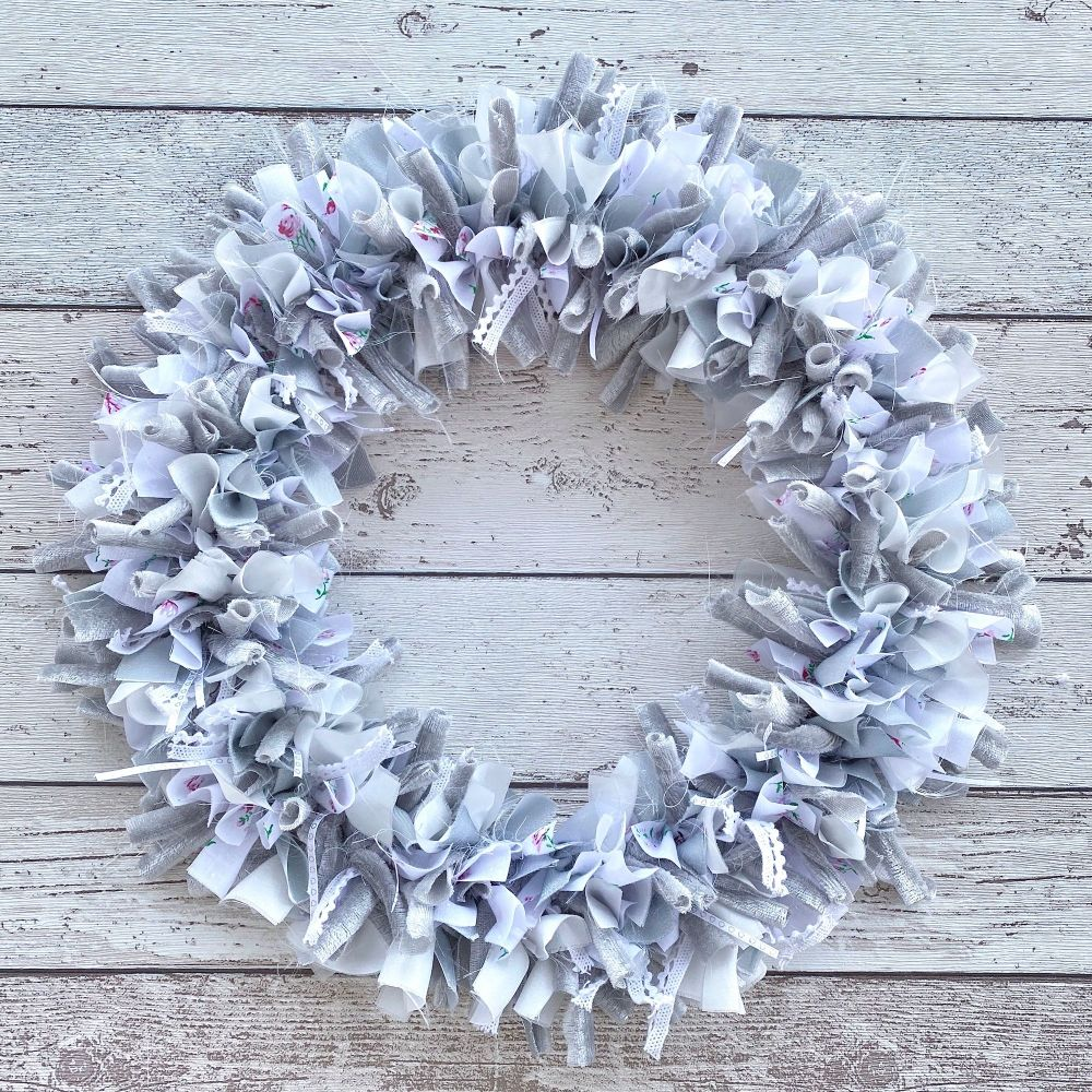 White silver wreath