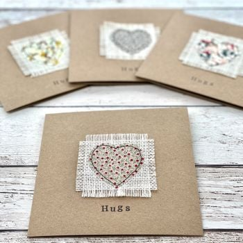 'Hugs' Set of 4 Greeting Cards