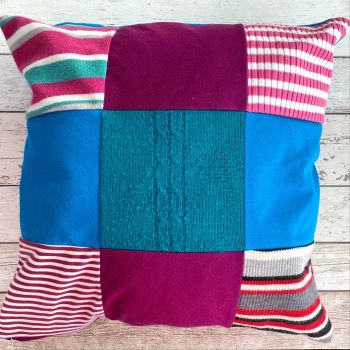 Patchwork Memory Cushion - Custom Made from Loved Ones Clothing