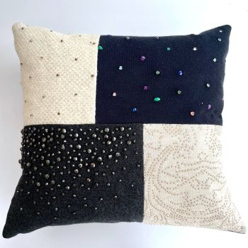 Patchwork Memory Cushion 4 Offset Rectangles - Custom Made from Loved Ones Clothing