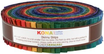 Robert Kaufman - Kona® Cotton - Skinny Strip - Dark Palette
