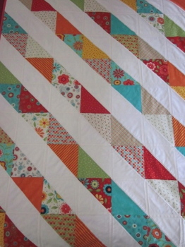 Child's Quilt - Moda - Block Party (Cream Diagonal) Layer Cake
