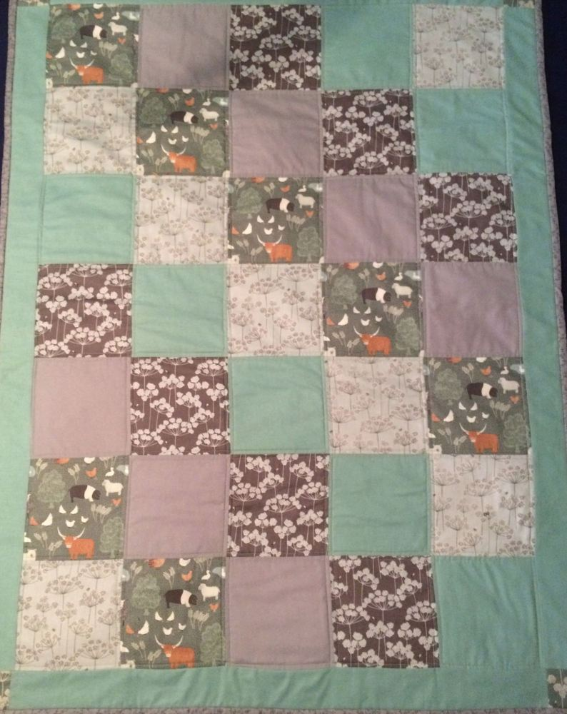 Baby Quilt - Lewis & Irene - Country Life fabric