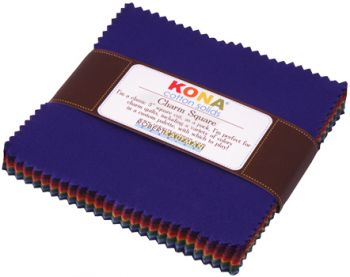 Robert Kaufman - Kona® Cotton Solids - Charm Square - New Dark Palette