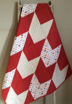 Baby Quilt - Burnt Orange and Lewis & Irene Little Hens