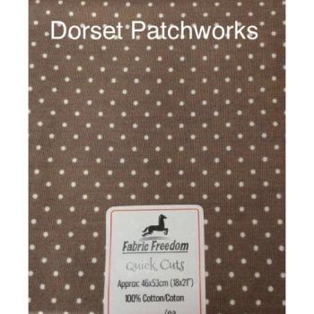 Fabric Freedom - Quick Cut - Mushroom and white