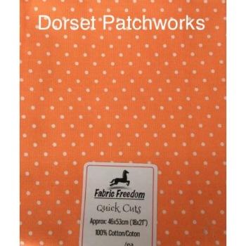 Fabric Freedom - Quick Cut - Orange and White