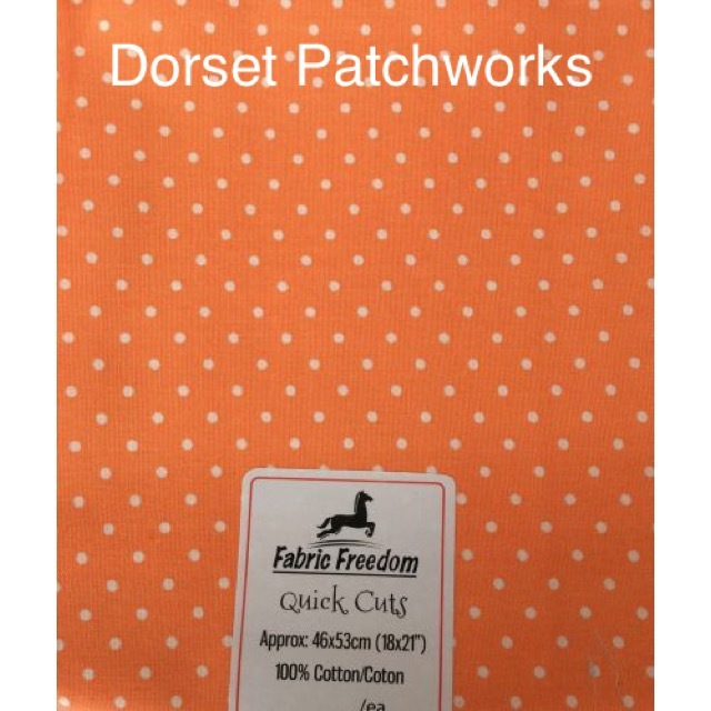 Fabric Freedom - Quick Cut - Orange and White