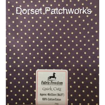 Fabric Freedom - Quick Cut - Dark Plum and Cream
