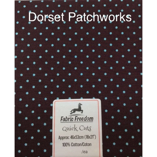 Fabric Freedom - Quick Cut - Dark brown and pale blue