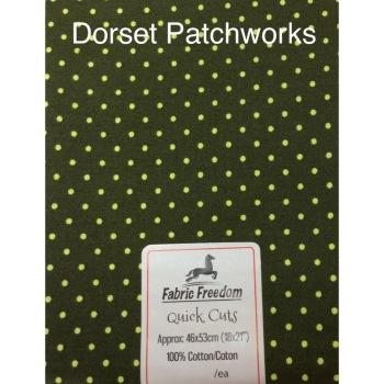Fabric Freedom - Quick Cut - Dark green and yellow