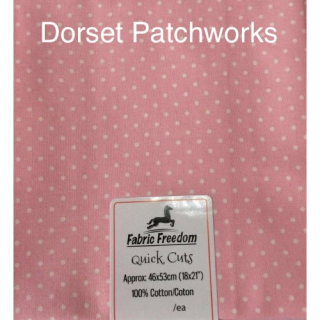 Fabric Freedom - Quick Cut - Pale Pink and White