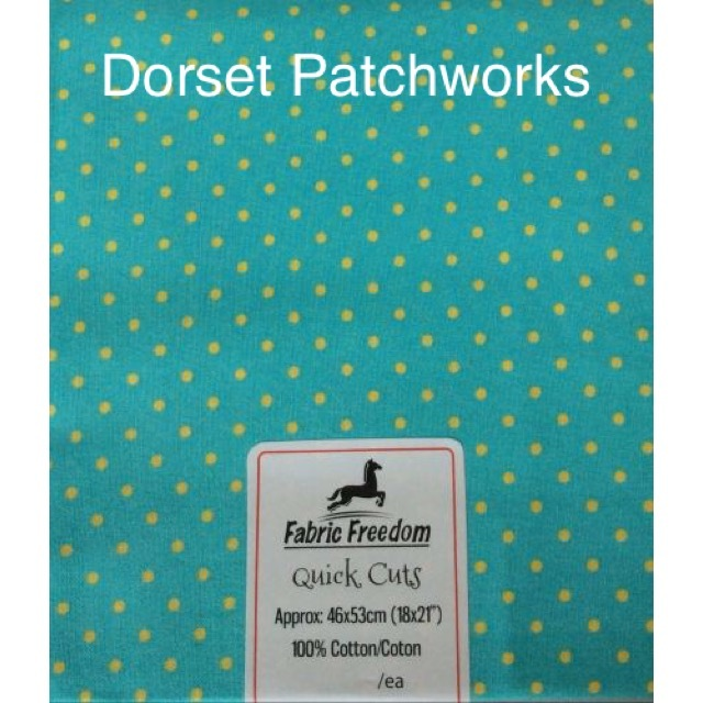Fabric Freedom - Quick Cut - light greeny/blue and yellow