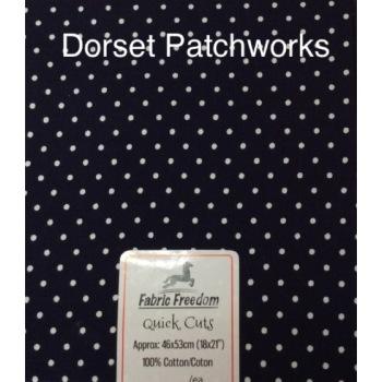 Fabric Freedom - Quick Cut - Dark Navy and white