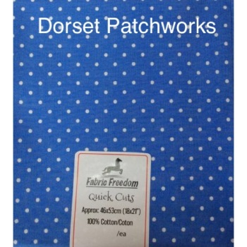Fabric Freedom - Quick Cut - Mid blue and white