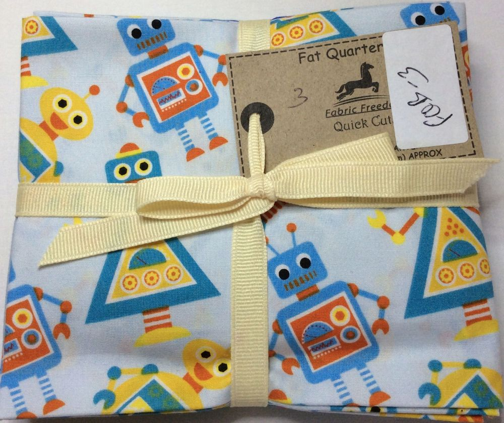 Fabric Freedom Fat Quarter Set - Robots