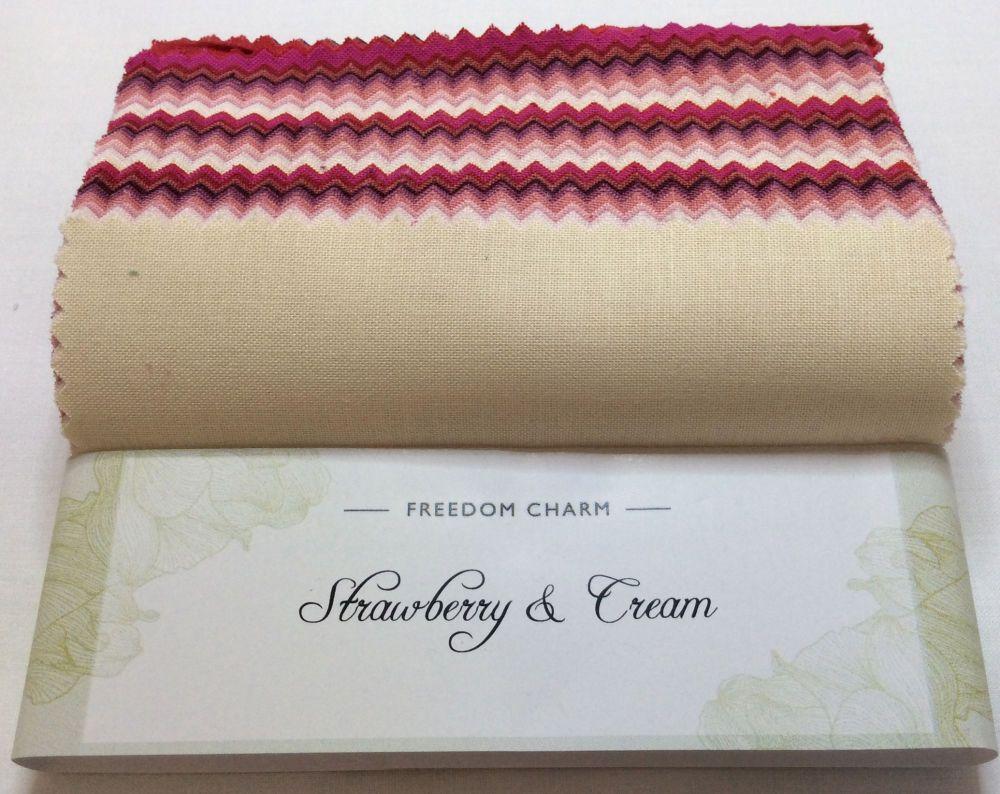 Fabric Freedom - Freedom Charm - Strawberries and Cream