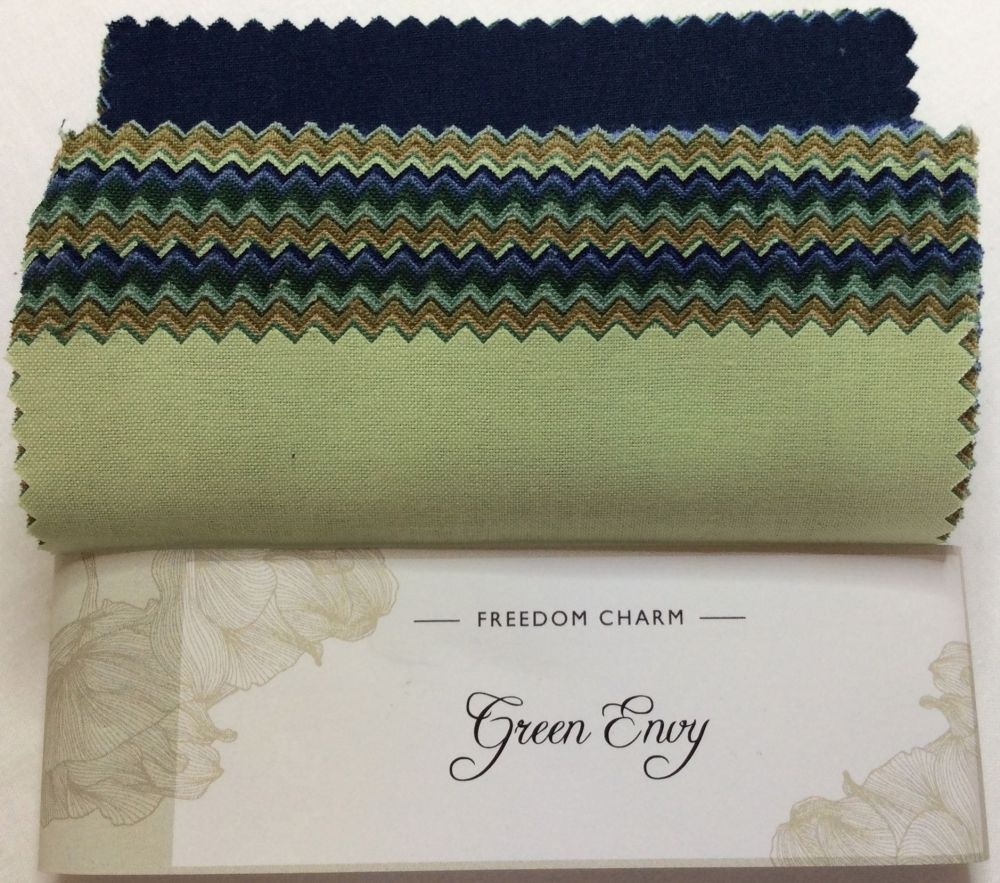 Fabric Freedom - Freedom Charm - Green Envy