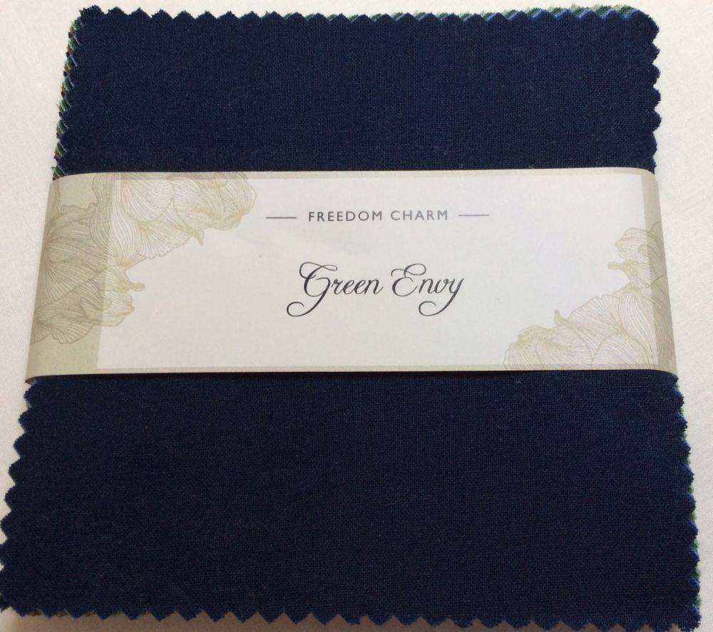 Fabric Freedom - Freedom Charm - Green Envy