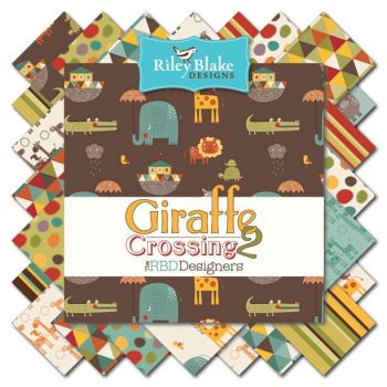 "Riley Blake - 10"" Stacker - Giraffe Crossing 2"