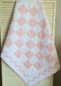 Pink and White Quilt