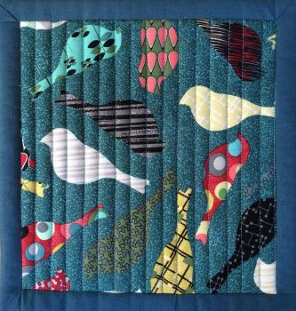 Mid Mod Quilted Place Mat (Bird Teal and Eye Teal)