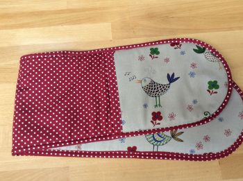 Oven Gloves - Birds and Polka Dots