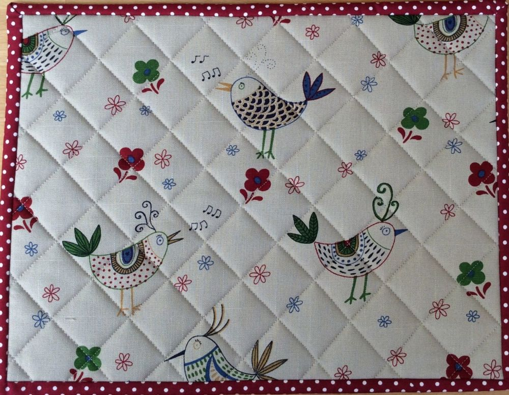 Quilted Place Mat - Bird