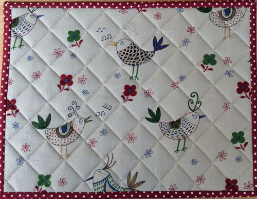 Quilted Place Mat - Bird