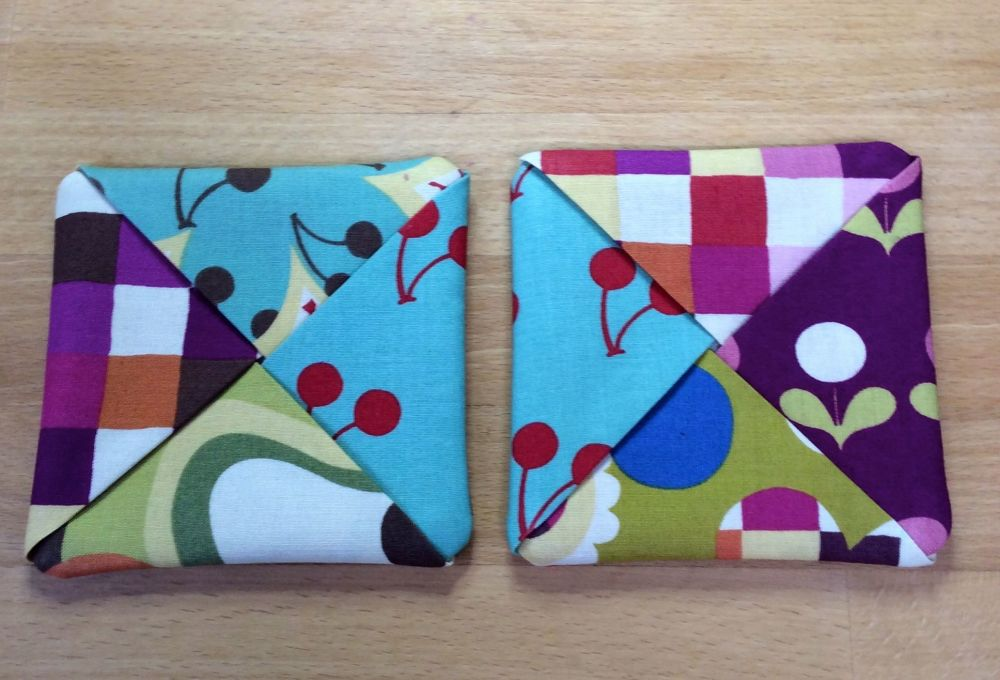 Pair of Fabric Coasters (Avant Garden)