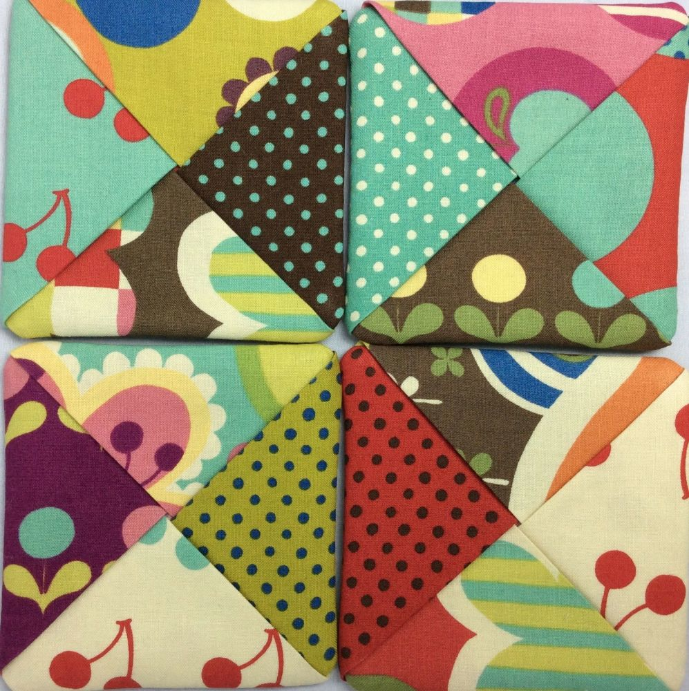 Set of Four of Fabric Coasters (Avant Garden)