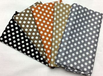 Michael Miller - Fat Quarter Bundle - Modern Basics Neutral - Medium Polka Dots