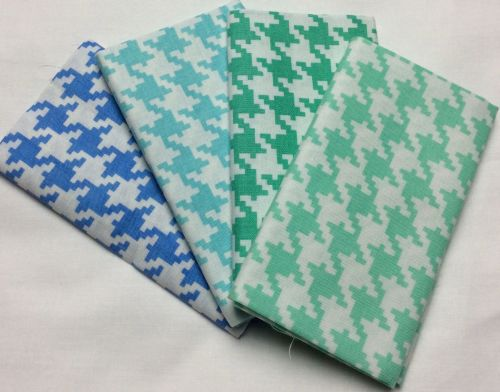 Michael Miller - Fat Quarter Bundle - Modern Basics Ocean - Large Houndstoo