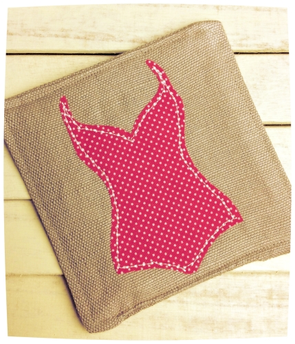 Ooh La La Coaster (Red and White Polka Dots Swimsuit)