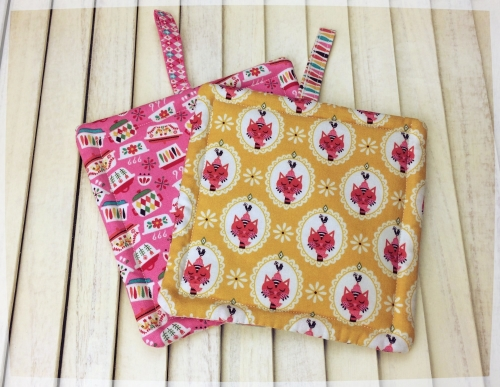 Pair of  Pot Holders with Tab