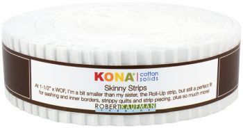Robert Kaufman Kona® Cotton - Skinny Strips - White