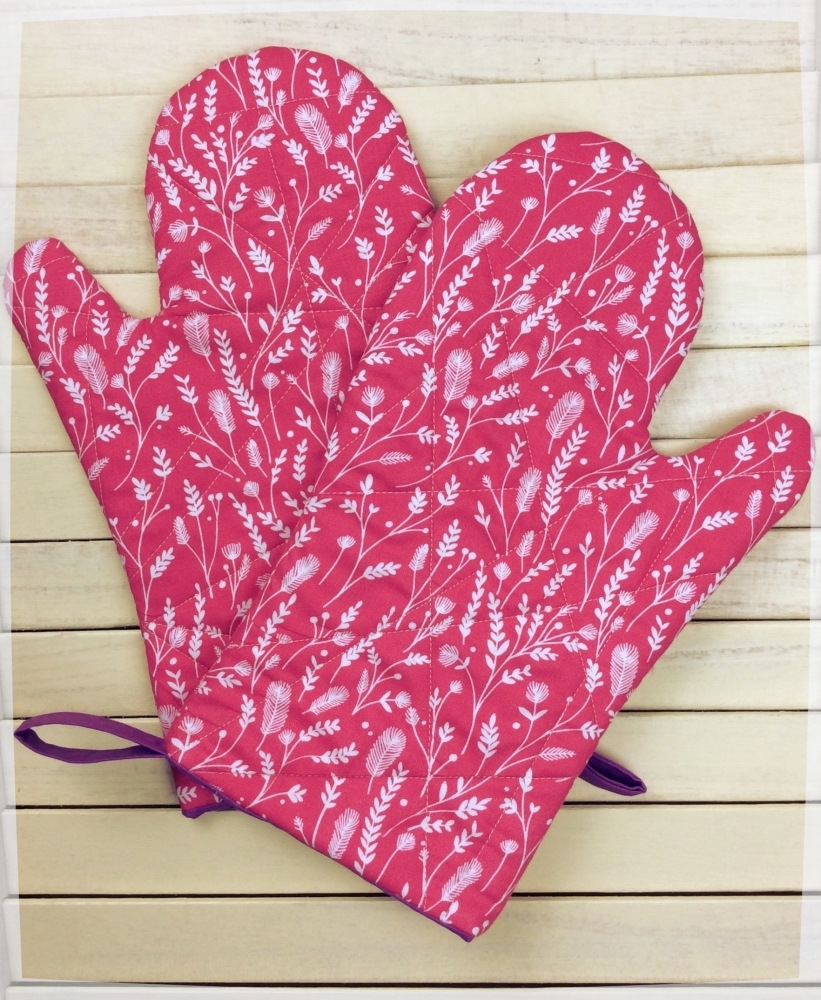 Oven Mitts (Cuckoo's Calling - Pink)