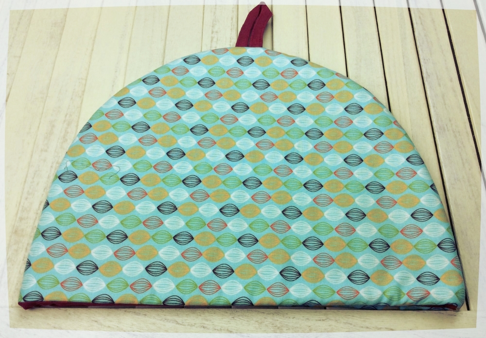 Tea Cosy - Green (with russet lining)