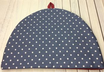 Tea Cosy - Polka Dot (Grey with Cream Polka Dots)